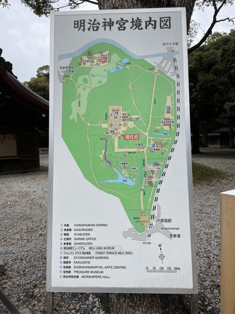 明治神宮境内地図